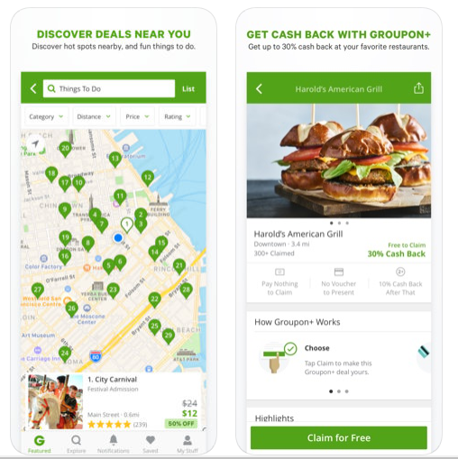 Groupon offer is discounts and savings offers for experiences, restaurants and services in your area.