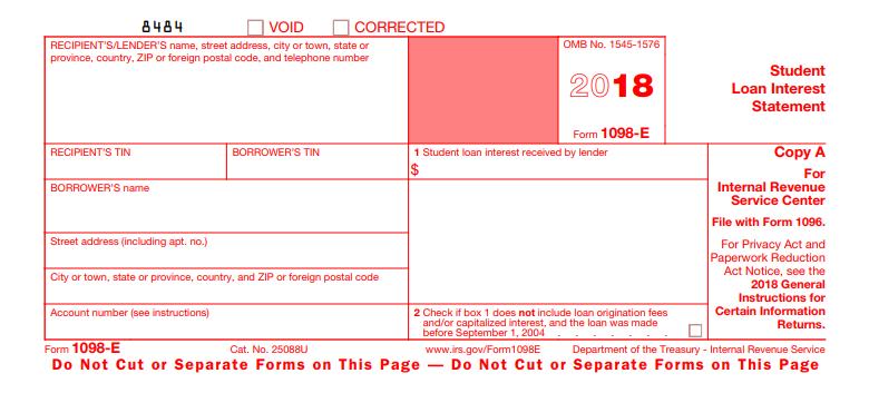 1098-E Form Source: IRS.gov
