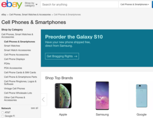 eBay's interface.