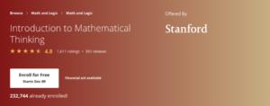 Intermediate Online Math Course
