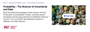 Probability — The Science of Uncertainty and Data by MIT