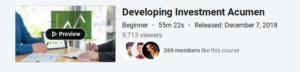 Developing Investment Acumen