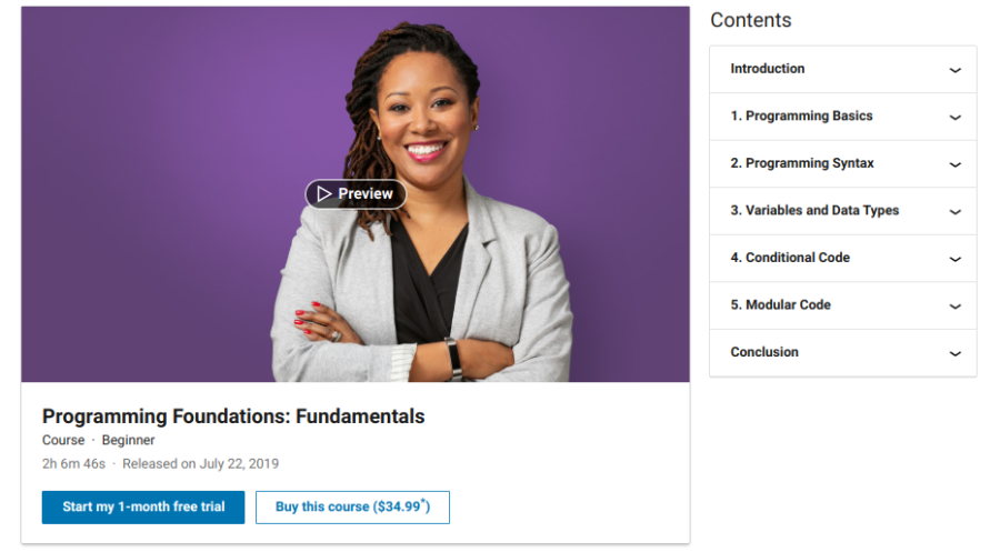 7. Programming Foundations: Fundamentals by LinkedIn Learning